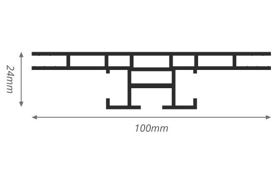 100mm-textielframe-dubbelzijdig-profieltekening